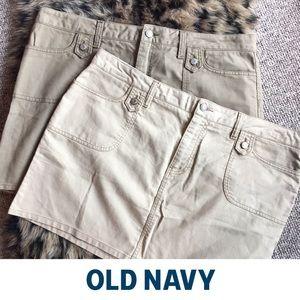 Set of two Khaki Mini skirts size 16